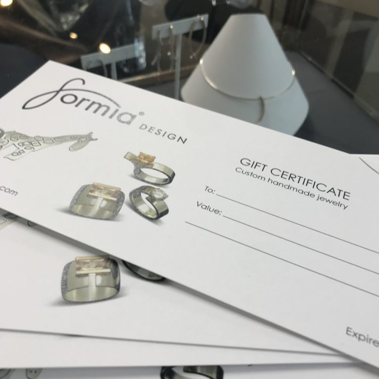 last minute gift with gift certificate to design your own jewelry