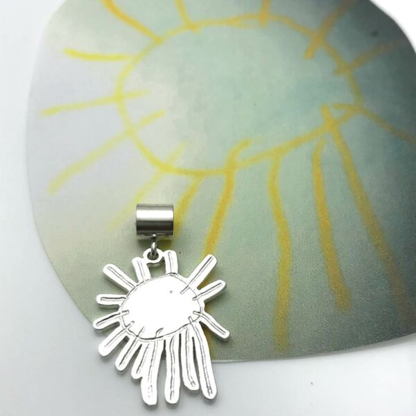 Create your own charm, sun drawing with pandora style bail