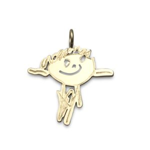 Artwork gold pendant 1 inch in solid 14k yellow gold can also be made in white gold or rose gold design your own