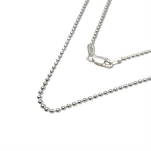 bead chain sterling silver playful chain for complementing a pendant of any style