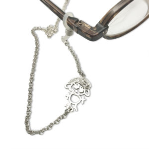 eyeglass chain charm with grandmas portrait