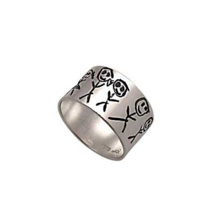Kids design ring, engraved exactly after your own artwork