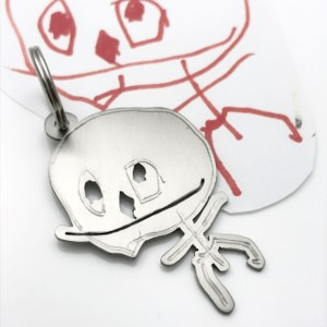 Perfect fathers day gift from his kids design your own titanium key chain