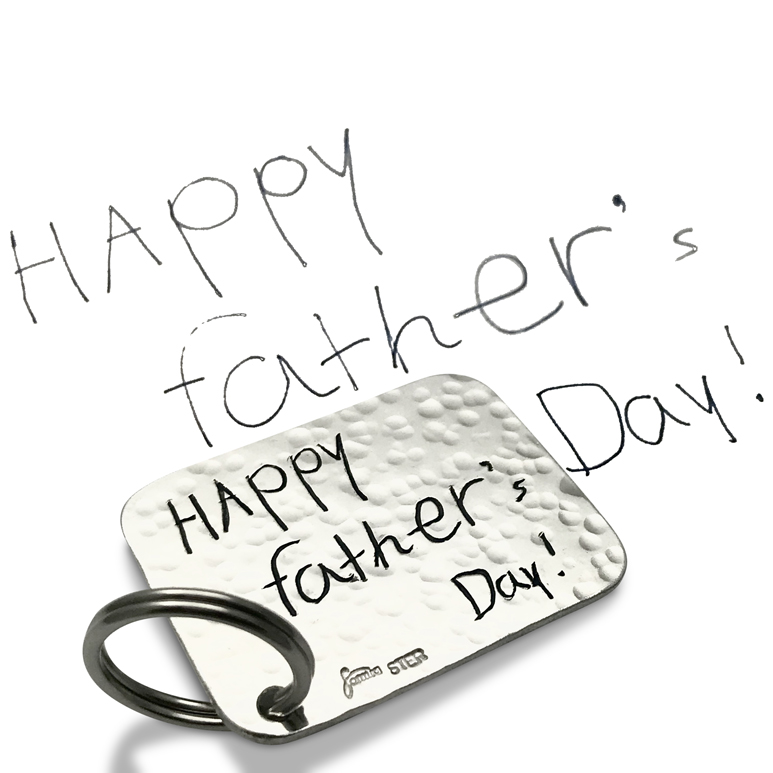 Father's Day Personalized engraving on the back with actual handwriting from your kids