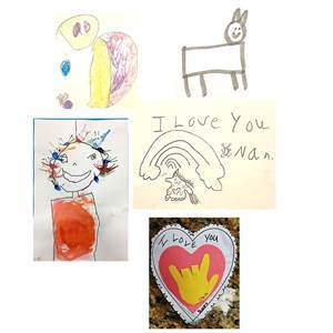 All kids drawings for classic charm bracelet for mom or grandma
