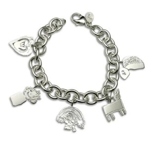 Classic charm bracelet with all of your kids drawings for mom