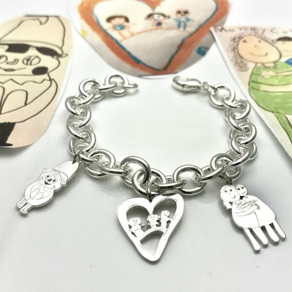 Create your own charm bracelet from drawings, timeless classic charm bracelet