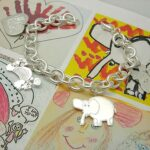 drawings on charm bracelet for Mothers day