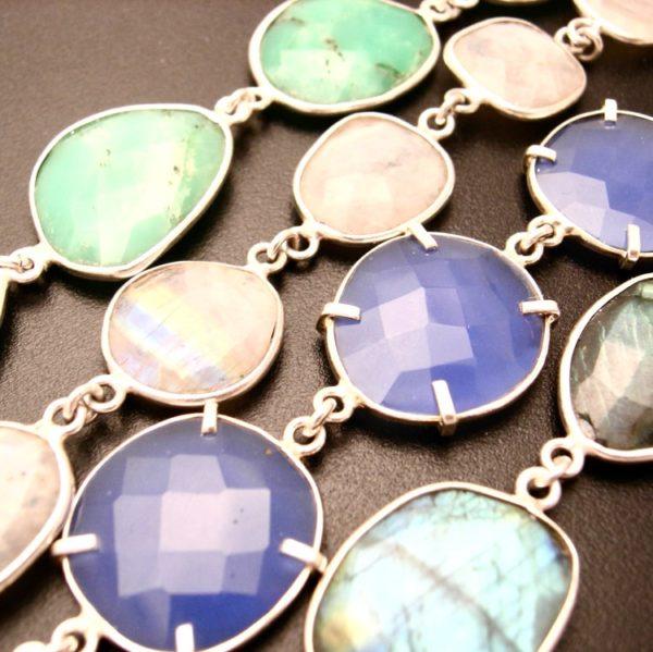 couture necklace gemstones to enhance artwork pendant