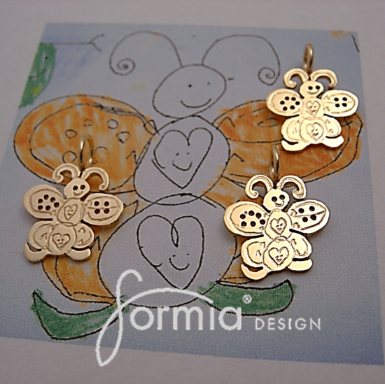 gold charms butterfly design