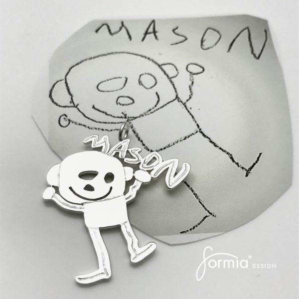 mason name portrait for design artwork pendant