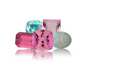 Pink-tourmaline-and-opal-October