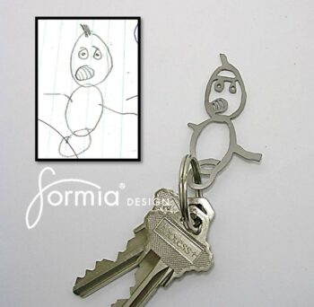 Formia Design first cut out titanium key chain