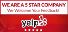 YELP Formia Design reviews 5 star company
