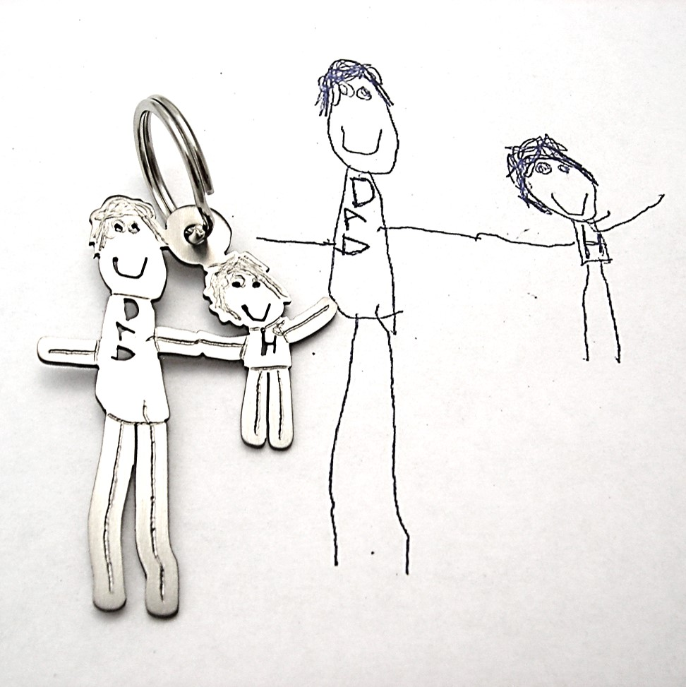 Testimonials dad key chain with review from google father's Day 2014