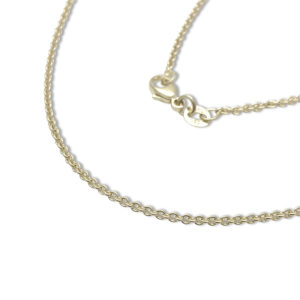 Gold cable chain 14k , 1.3mm thin