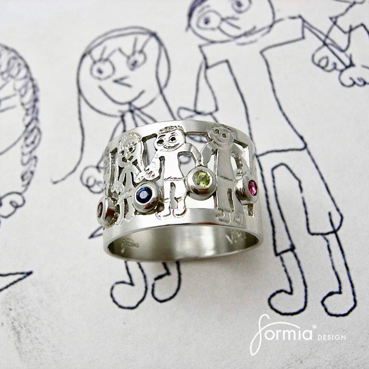 Attire your family picture with birthstones