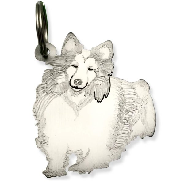 Pet photo key chain in titanium dog cat and more