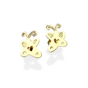 Artwork gold studs earrings small custom studs desined after your own drawing