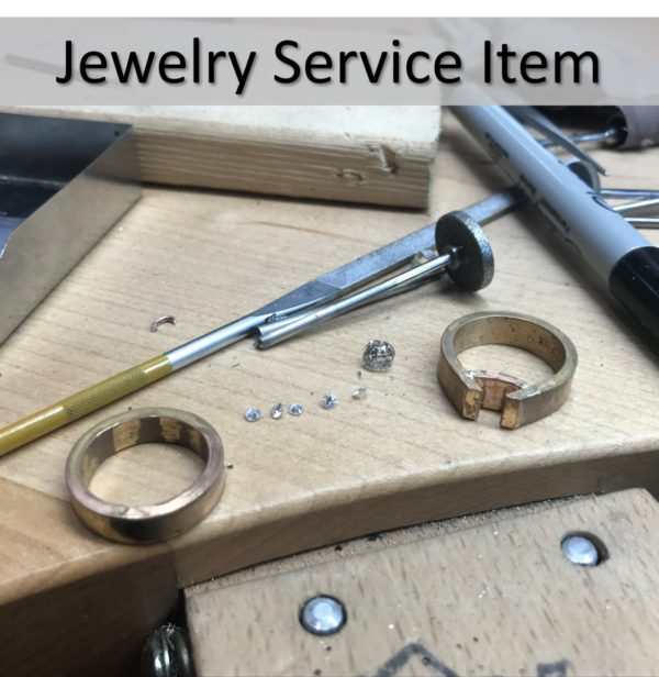 Jewelry service Item repair or alterations of jewelry by goldsmith