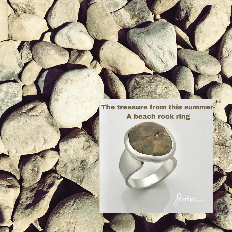 The treasure from this summer a beach rock ring memory