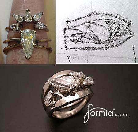 Redesign grandma's wedding rings into new design that fits a modern woman