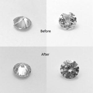 Diamond cutting service, restore damaged diamonds by having them recut