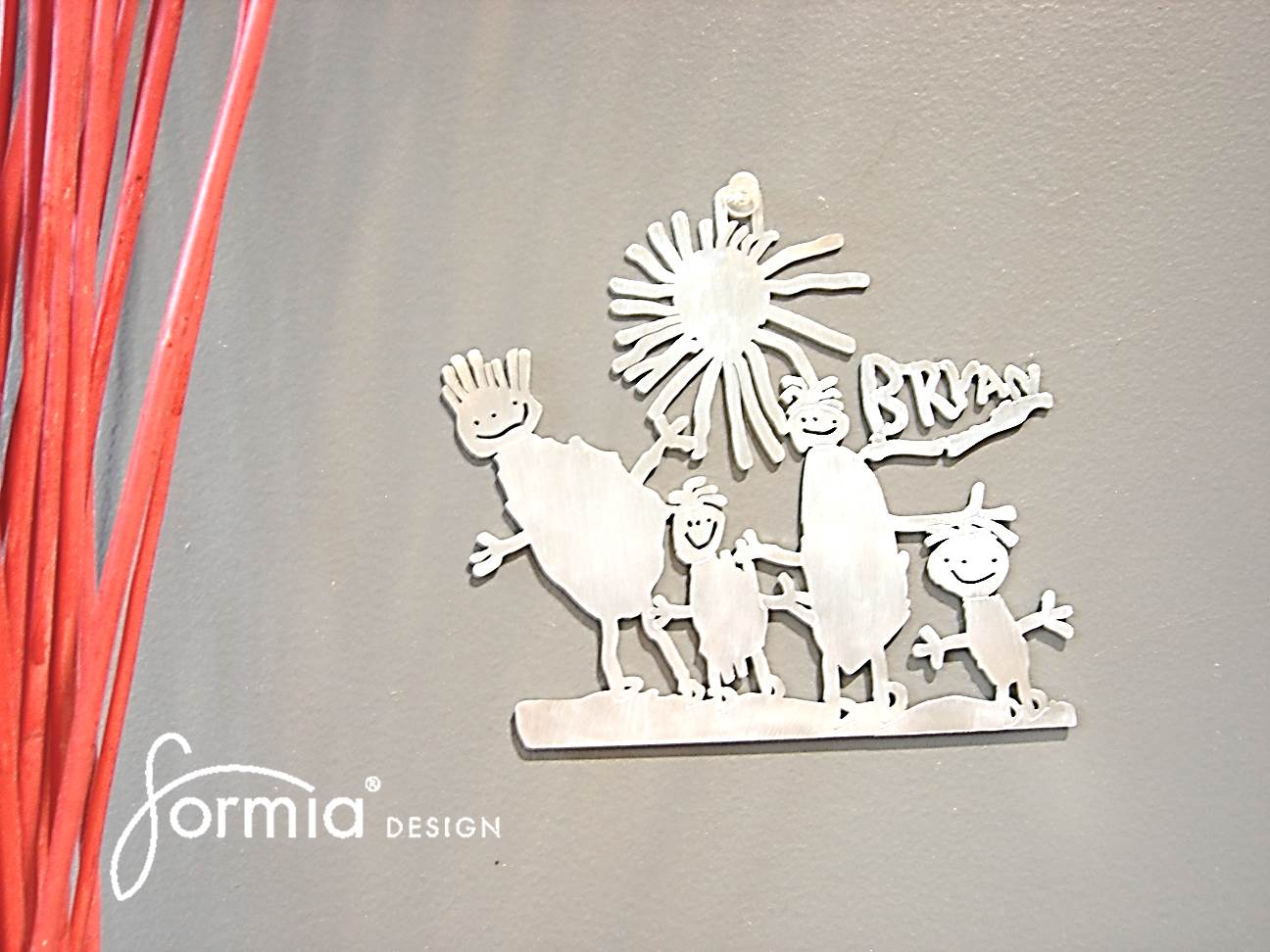 wall mounting decor aluminum after drawing custom made
