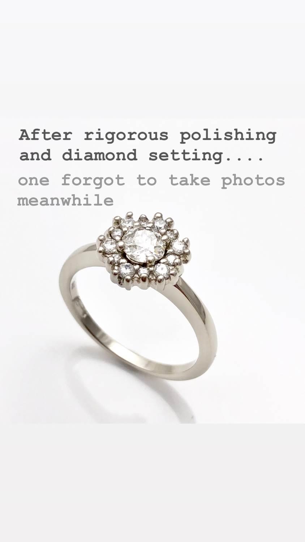 after rigorous ploishing anddiamond setting