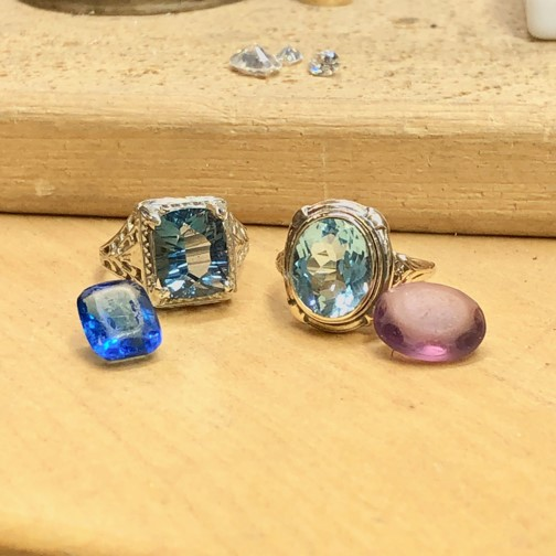 switch your gemstones out, Your old rings with worn out gemstones gets new life when switched out and renovated