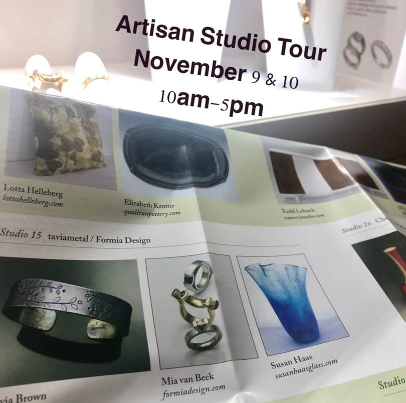 Studio tour save the date 2019 to see amazing jewelry and glass art