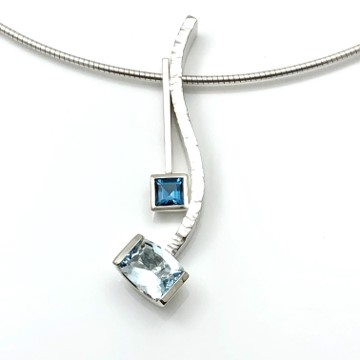 Blue topaz combination pendants, enhance and multiply your pendant use