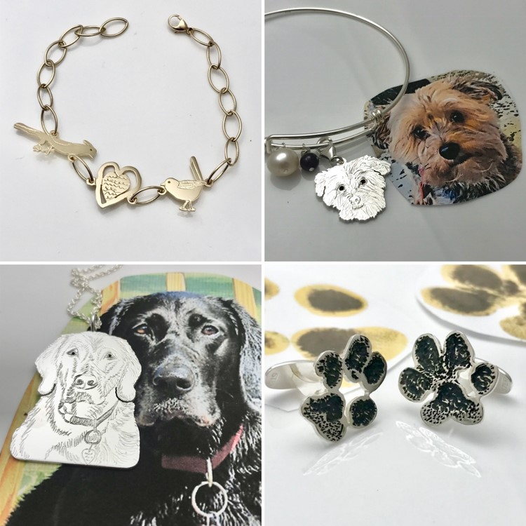 Pets we love we create jewelry and keepskae from their photos