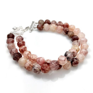 Red quartz bead bracelet