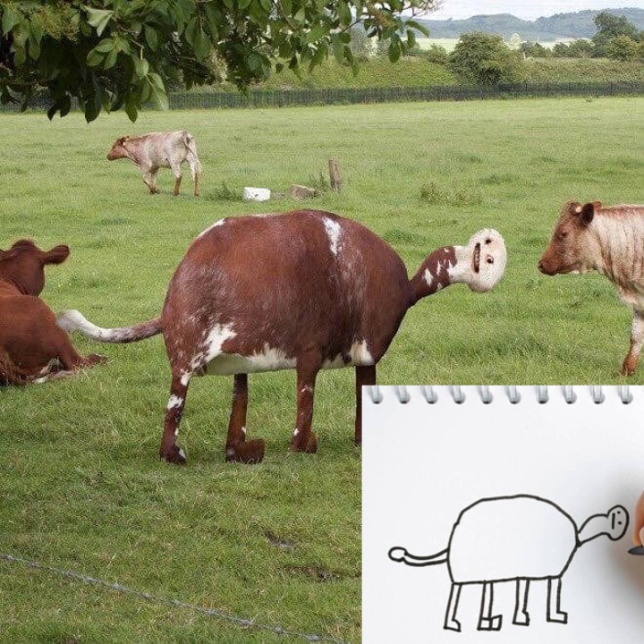 Cow drawn by kids can now be turned into jewelry
