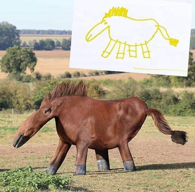 Hilarious Horse the way the children draw them