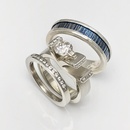 Two Beautiful Souls Finding Love, modern unusual wedding rings