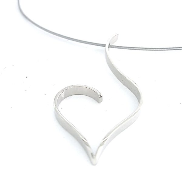 Heart pendant necklace Valentines gift