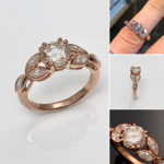 Pure beauty in a ring, rose gold and diamond in classic vintage engagement ring