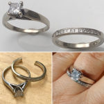Resized wedding rings after they had been to tight for a long time