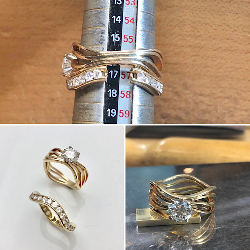 Wedding ring sizing by a goldsmith, use your rings again