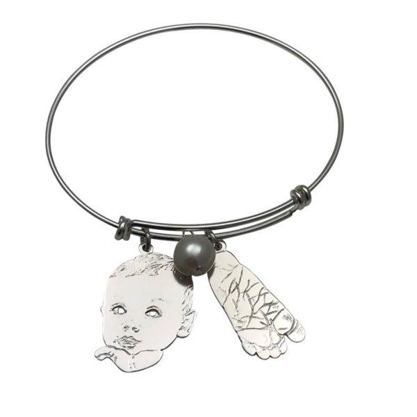 New baby charm bracelet, gift for new moms