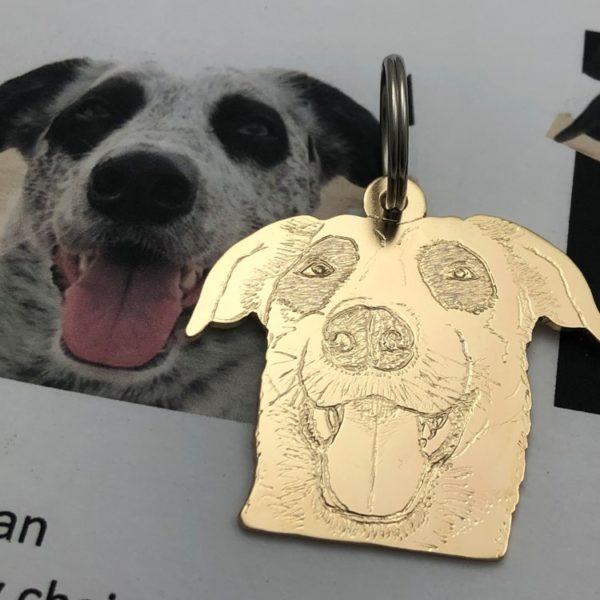 Pet photo bronze keychain