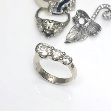redesign family diamonds into a custom designed engagement ring