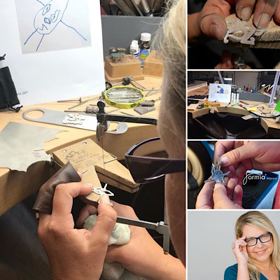 Creative jewelry studio FORMIA Design were Mia make it all by hand