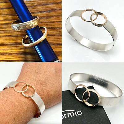 Cool redesign rings idea to reuse old wedding rings in bracelet