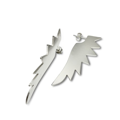 Eagle cutting edge earrings for the brave woman stating freedom