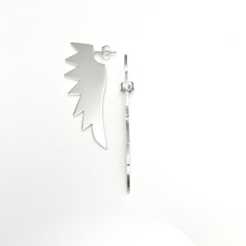 Eagle cutting edge earrings in sterling silver