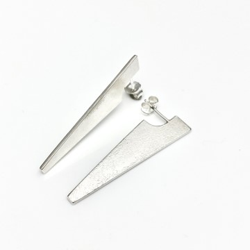 Falca cutting edge earring small size matt texture