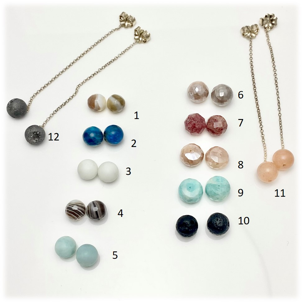 Add dangles in colors in different gemstone beads